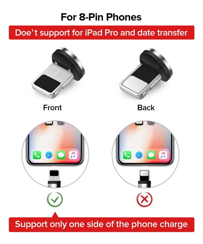Fast Magnetic Charging Cable for Micro USB / Type C / iPhone