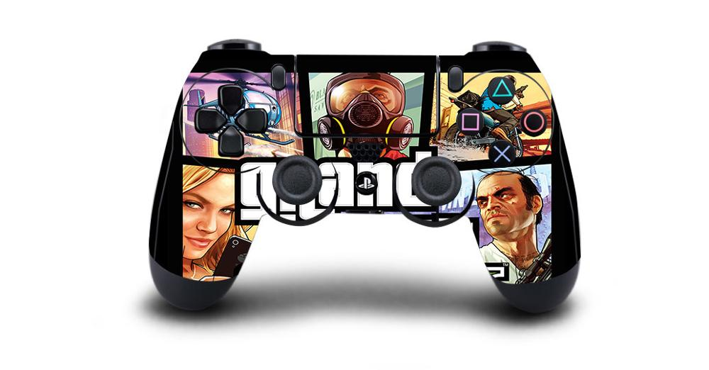 Grand Theft Auto V GTA 5 Protective Cover Sticker For PS4 Controller Skin For Playstation 4 Pro Slim Decal PS4 Skin Sticker