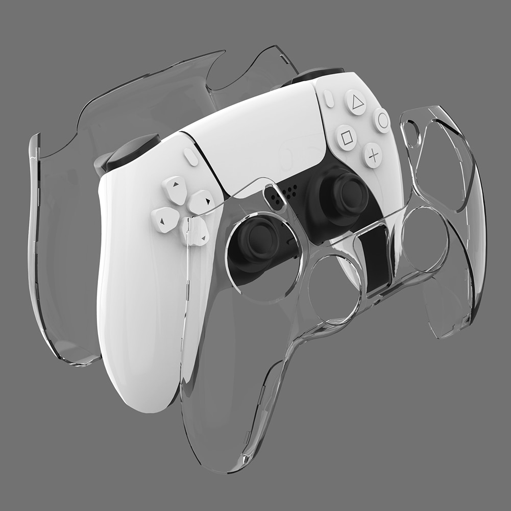 PS5 DualSense Skin Transparent Clear PC Cover Ultra Slim Protector Case for PlayStation 5 Controller Accessories
