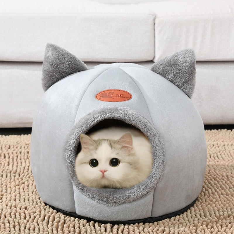 New Deep sleep comfort in winter cat bed little mat basket for cat's house  products pets tent cozy cave beds Indoor cama gato
