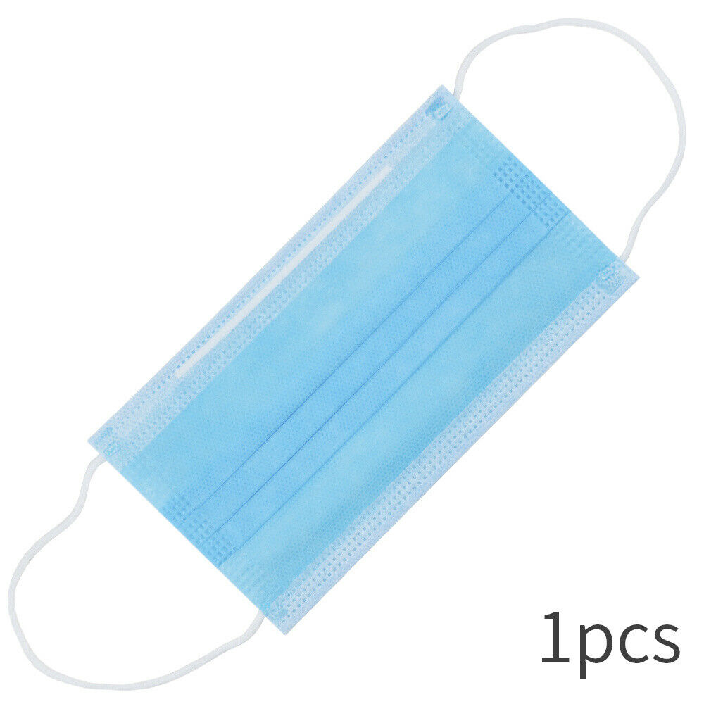 Disposable Medical Mask Non Wove 3 Layer Ply Filter Safe Breathable Surgical Face Mouth Mask Breathable Anti-Dust Earloops Mask