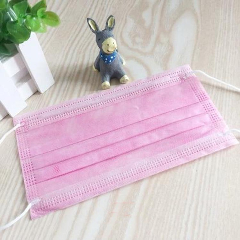 NEW 7 Color Disposable Medical Mask Blue Pink Surgical Face Mouth Mask 3 Layer Ply Filter Non-woven Anti-Dust Earloops Mask